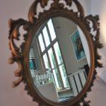 Spiegel, hout, barrok, brocante, Italy